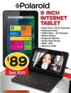 "Polaroid 9"" Internet Tablet"