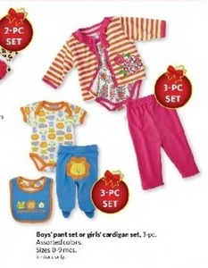 Baby Boys' 3 Piece Pant Set