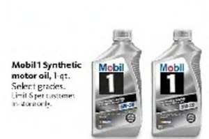 Mobil 1 1Qt Synthetic Motor Oil