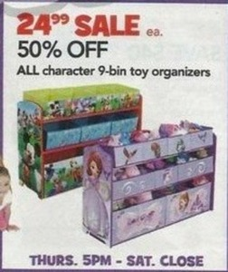 All Character 9-Bin Toy Organizers