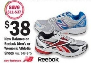 New Balance or Reebok Women's Athletic Shoes