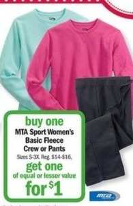 MTA Sport Women's Basic Fleece Crew