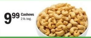 2 Lb Bag of Cashews