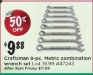 Craftsman 8-pc. Metric Combination Wrench Set