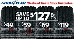 Goodyear Tire Sale - Save up to $127 Per Tire (Friday Only)