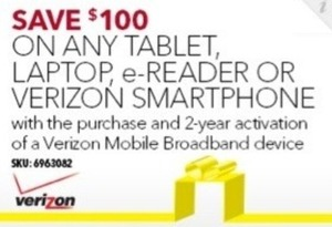 Any Tablet, Laptop, eReader or Verizon Smartphone w/ 2yr Activation