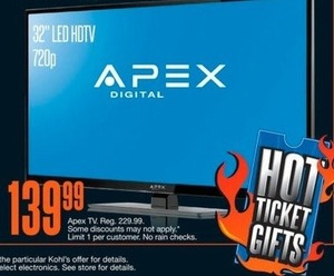 "Apex 32"" LED HDTV"
