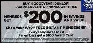 Buy 4 Goodyear, Dunlop, Roadhandler or Hankook Tires