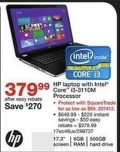 """HP 17.3"""" Laptop w/ Intel Core i3 CPU"""