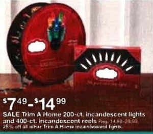 Trim A Home 200-ct. & 400-ct. Incandescent Lights
