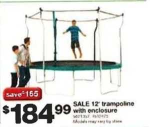 12' Trampoline w/ Enclosure