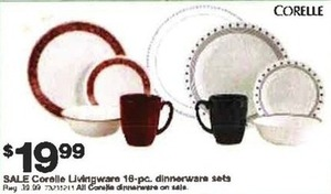Corelle Livingware 16pc Dinnerware Set