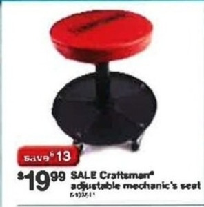 Craftsman Adjustable Mechanic's Seat