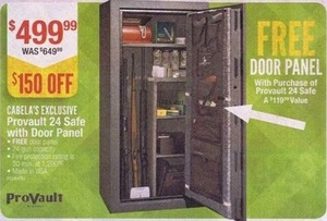 Cabela's Exclusive Provault 24 Safe w/ Door Panel