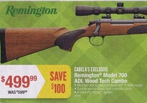 Remington Model 700 ADL Wood Tech Combo Rifle