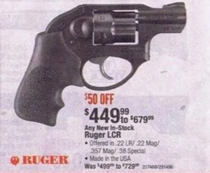 Any New In-Stock Ruger LCR