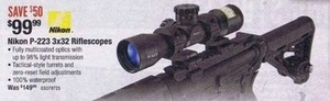 Nikon P-223 3x32 Riflescopes