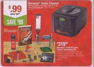 $0.99 Hornady Sonic Cleaner w/ Hornady Lock-N-Load Classic Reloading Kit Purchase