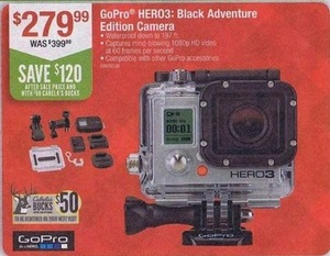Go Pro HERO3: Black Adventure Edition Camera