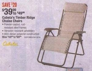 Timber Ridge Chaise Chairs
