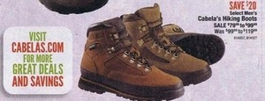 Select Men's Cabela's Hiking Boots