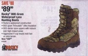 Rocky 800-gram Waterproof Lynz Hunting Boots