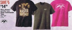 Men's, Women's & Kids' Camo Duck Commander Tees