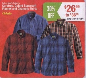 Carefree, Oxford Supersoft Flannel & Chamois Shirts