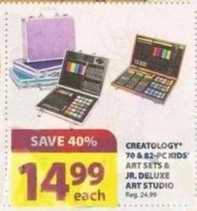 Creatology 70 & 82pc Kids' Art Sets & Jr. Deluxe Art Studio