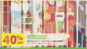 Celebrate It Christmas Roll Wrap