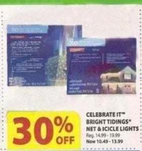 Celebrate It Bright Tidings Net & Icicle Lights