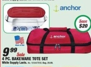 Anchor 4 pc Bakeware Tote Set