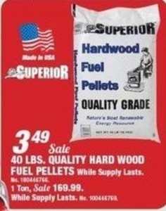 Superior 1 Ton Quality Hard Wood Fuel Pellets