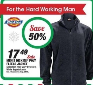 Dickies Men's Poly Fleece Jacket
