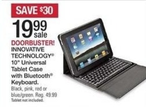 "Innovative Technology 10"" Universal Tablet Case w/ Bluetooth Keyboard"