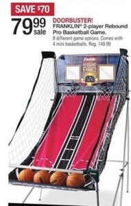 Franklin 2-Player Rebound Pro Basketball Game