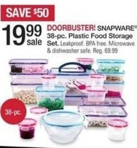 Snapware 38 pc. Plastic Storage Set