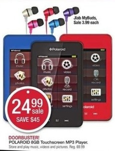 Polaroid 8GB Touchscreen MP3 Player