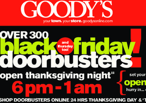 Goody's Black Friday Ad