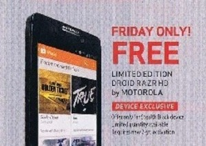 Limited Edition Motorola Droid Razr HD - Friday Only