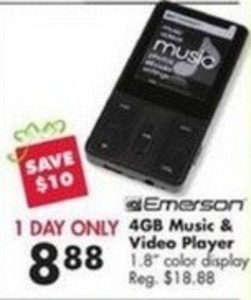 Emerson 4GB Music & Video Player