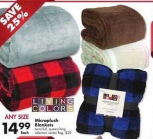 Living Colors Microplush Blankets