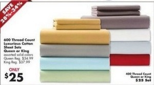 600TC or 400TC Luxurious Cotton Sheet Sets - King or Queen
