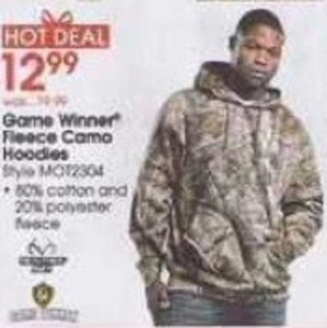 Game Winner Men's Fleece Camo Hoodies