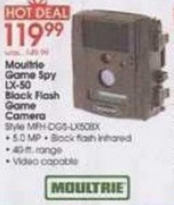 Moultrie Game Spy LX-50 Black Flash Game Camera