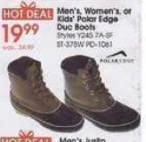 Men's, Women's or Kids' Polar Edge Duc Boots