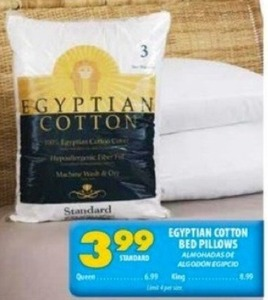 Egyptian Cotton Bed Pillows - Standard