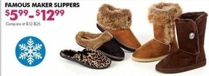 Famous Maker Slippers