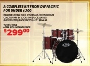 DW Pacific Complete Drum Kit
