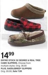 Entire Stock of Saddlebred Slippers